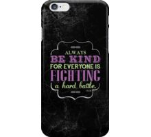 Be Kind iPhone Case in Color iPhone Case/Skin