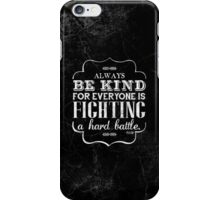 Be Kind iPhone Case in grunge style iPhone Case/Skin