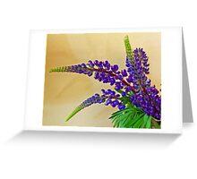 Wild Lupin Greeting Card