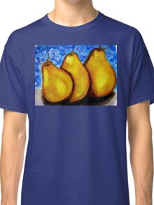 Watercolor and Acrylic Pears Classic T-Shirt
