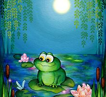 Frog & Lily Pond  by Annya Kai