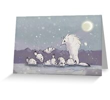 Tundra Wolves Greeting Card