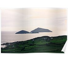 Dusk light over the Kerry Coast Poster