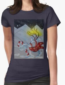 North Pole Welcomer Womens Fitted T-Shirt