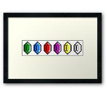 Zelda - Rupees Pixel Art Framed Print