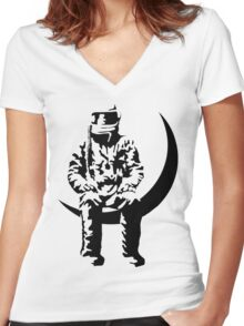 AVA LOVE  Women's Fitted V-Neck T-Shirt