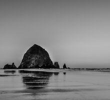 haystack on the beach by maria miller