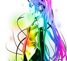 Miku Rainbow by tmwilson