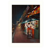Annapolis at Night: Chick and Ruths Art Print