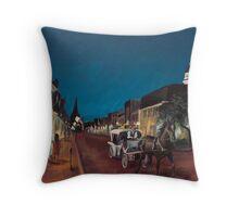Annapolis at Night: Mangia's Throw Pillow