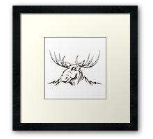 Moose head Framed Print