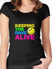 Keeping The Rave Alive Women's Fitted Scoop T-Shirt