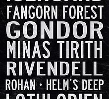 Lord of the Rings Tram Scroll by rafstardesigns