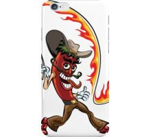 chili pepper with a lash of fire iPhone Case/Skin