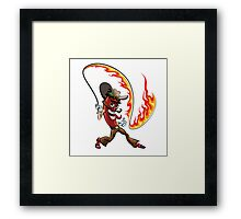 chili pepper with a lash of fire Framed Print