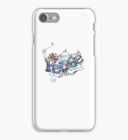peace love and understanding iPhone Case/Skin