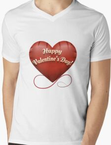 The toy Happy Valentine's Day heart Mens V-Neck T-Shirt