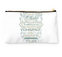 I can do all things through christ who strengthens me Studio Pouch