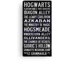 Harry Potter Tram Scroll Canvas Print