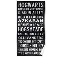 Harry Potter Tram Scroll Poster
