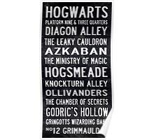 Harry Potter Tram Scroll Poster