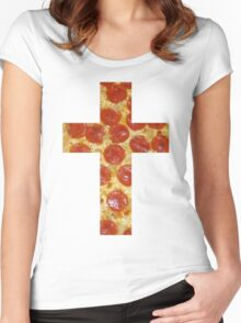 Pizza Cross Women's Fitted Scoop T-Shirt