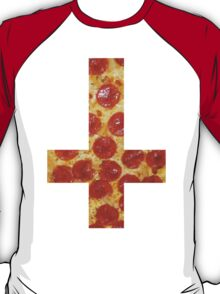Pizza Cross - Inverted T-Shirt
