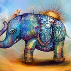 magic rainbow elephant by © Cassidy (Karin) Taylor