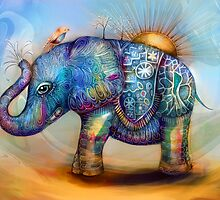 magic rainbow elephant by © Karin (Cassidy) Taylor
