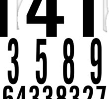 Number pi Sticker