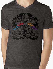 Teenage Mutant Ninja Rorschach Mens V-Neck T-Shirt