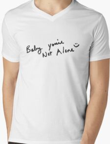 Baby You're Not Alone - Darren Criss Mens V-Neck T-Shirt