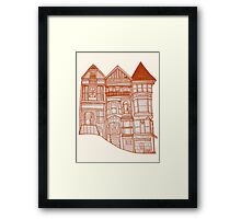 Summer Neighborhood Framed Print