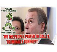 Corrupt Boehner Poster