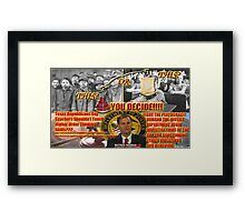 Critical Thinking Education  Framed Print
