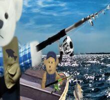 ☀ ツ GOOD THINGS COME TO THOSE WHO BAIT TEDDY BEARS FISHING TEE SHIRT☀ ツ Sticker