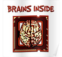 Brains inside Poster