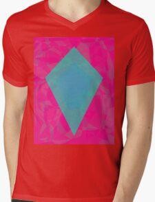 Green Diamond Mens V-Neck T-Shirt