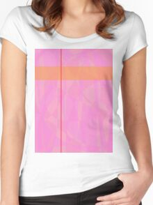 Minimalism Pink Marble Women's Fitted Scoop T-Shirt