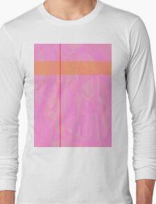 Minimalism Pink Marble Long Sleeve T-Shirt