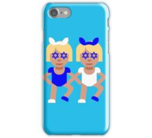 bunny ears emoji hanukkah iPhone Case/Skin