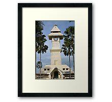 Borneo Kutai Kartanegara Bentong Clock Tower Framed Print