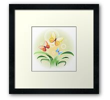 sprouts and butterflies Framed Print