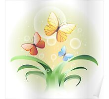 sprouts and butterflies Poster