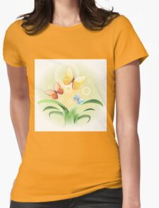 sprouts and butterflies Womens Fitted T-Shirt