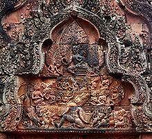 Carvings of Banteay Srei, V by Vladimir Rudyak