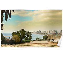 Tel Aviv Coastline Poster
