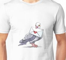 Pigeon with letter Unisex T-Shirt