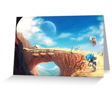 Sonic the Hedgehog Fan Art - Boom Sonic & Tails Greeting Card