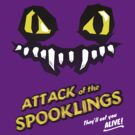 Attack of the Spooklings - B Movie Poster - Purple by Carles Salas